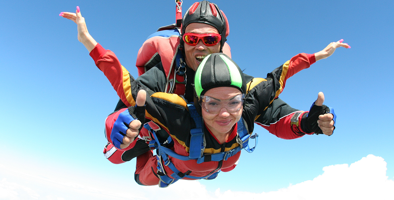 Fallschirm-Tandemspringen