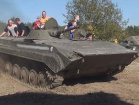 Beifahrer im BMP 1 Schützenpanzer in Grimmen, Raum Stralsund - Erlebnis Geschenke