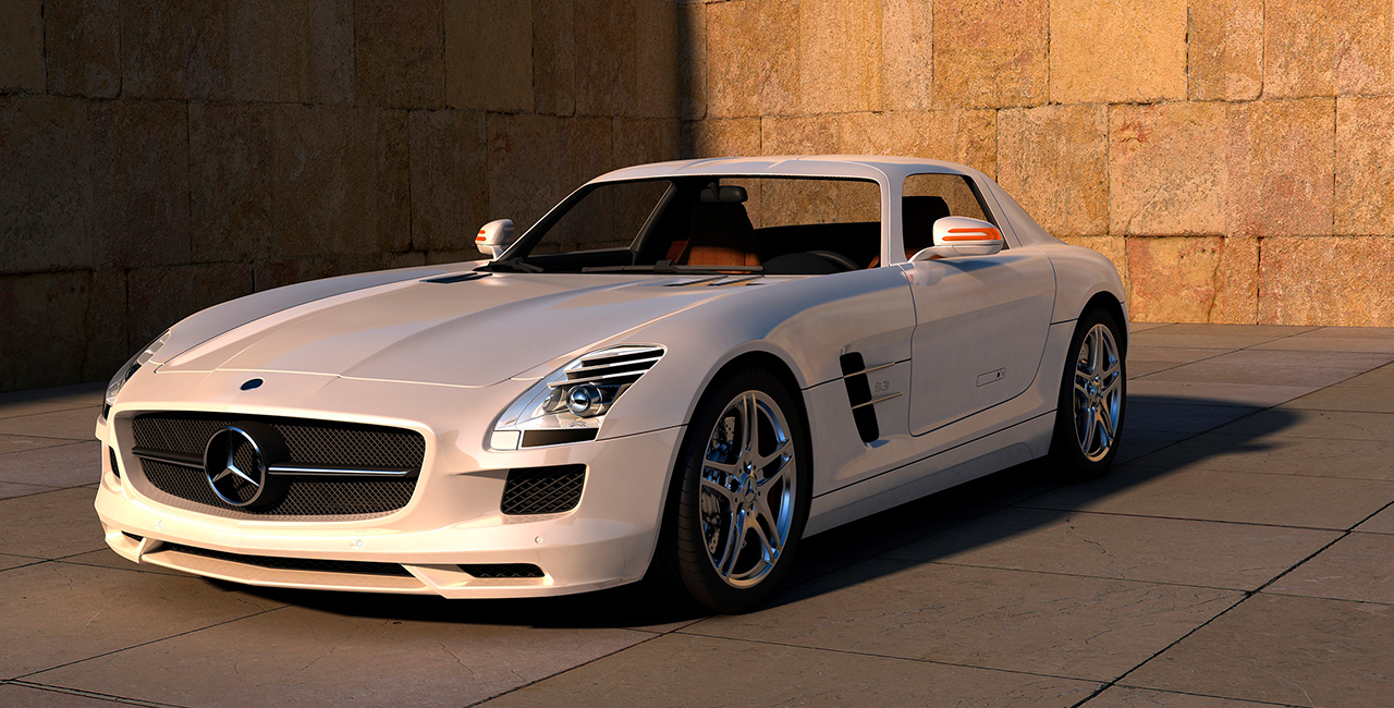Mercedes SLS fahren