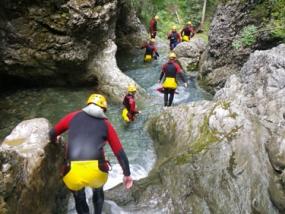 Canyoning Tour Fortgeschrittene in Riezlern, Kleinwalsertal