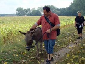Esel Trekking Tour in Wolsier, Raum Neuruppin