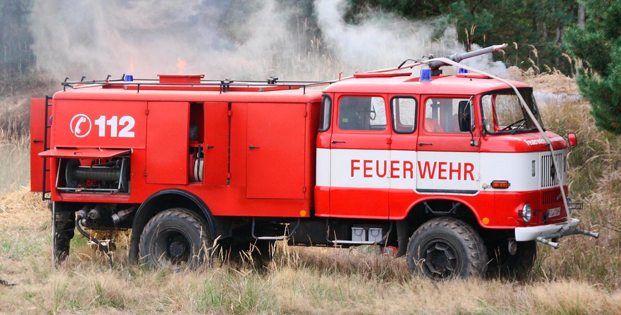 Feuerwehrauto fahren