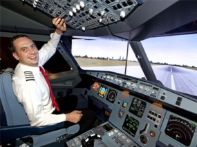 Flugsimulator Airbus A320 in Prag, Tschechien