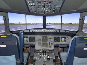 Flugsimulator Airbus A380 Basel