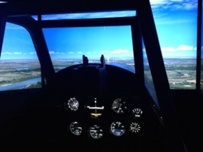 Flugsimulator BF 109 in Bruchsal, Raum Karlsruhe