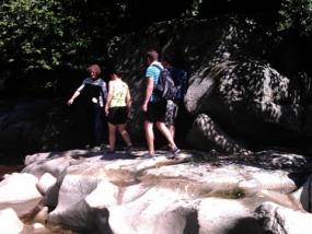 Flussbettwanderung in Forbach, Raum Baden-Baden