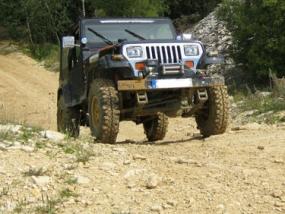 Jeep Wrangler offroad selber fahren in Langenaltheim, Bayern