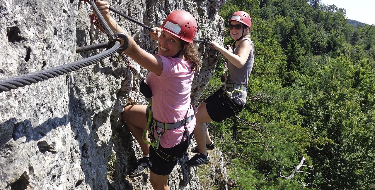 Kletterkurs und Höhlenexkursion in Hirschbach, Raum Nürnberg in Bayern