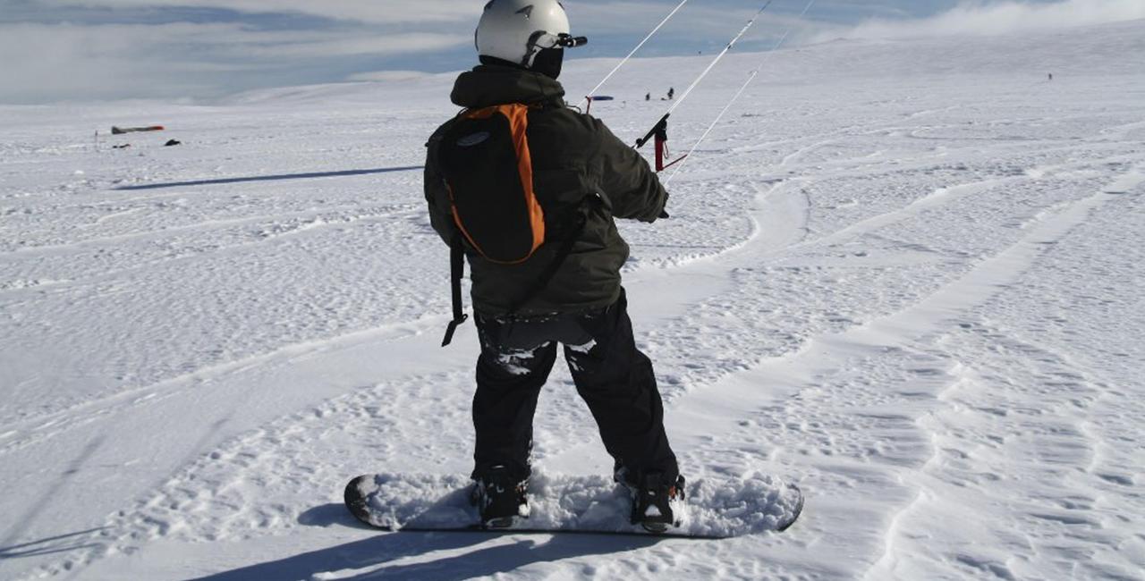 Snowkiten `Schnupperkurs` in Marquartstein