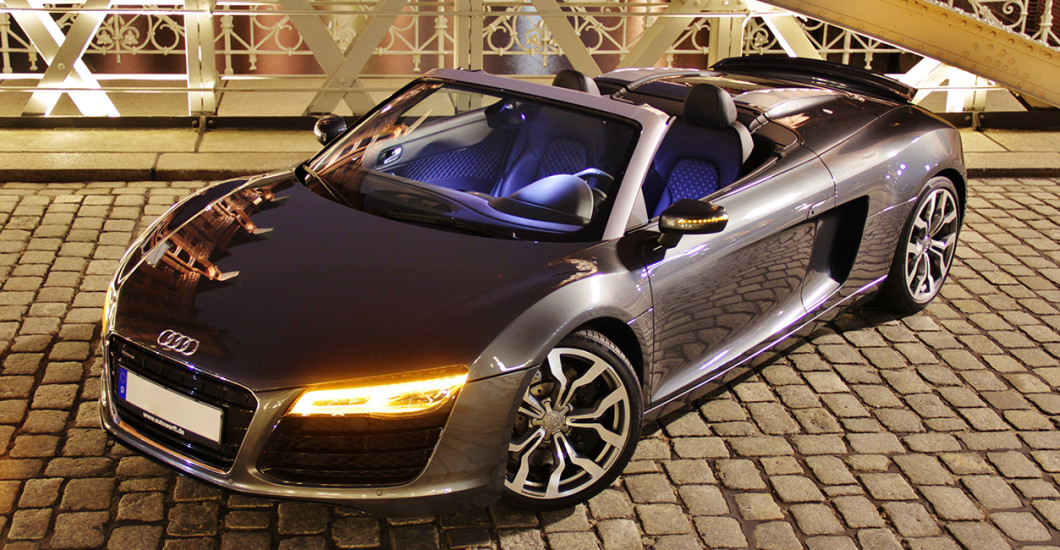 30 min audi r8 spyder selber fahren in m mbris. Black Bedroom Furniture Sets. Home Design Ideas