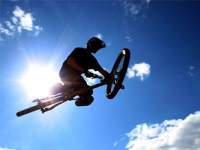Mountainbike Freeriding in Willingen, Hessen