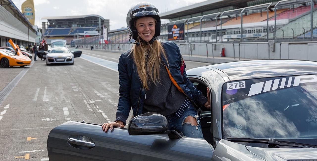 6 Runden Mercedes AMG GT selber fahren auf dem Hockenheimring