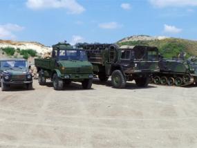 Panzer, MAN KAT1, Mercedes G-Klasse und Unimog fahren Knüllwald - Erlebnis Geschenke