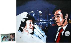 Pop Art Doppelportrait (50x40) nach Roy Lichtenstein München