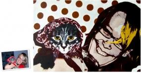 Pop Art Einzelportrait (50x40) nach Roy Lichtenstein München