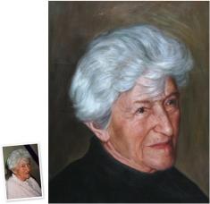 Portrait n. Foto photorealistisches Ölgemälde (90x50) München - Erlebnis Geschenke