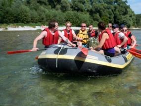 Rafting Tour auf der Isar in Wolfratshausen, Raum München - Erlebnis Geschenke
