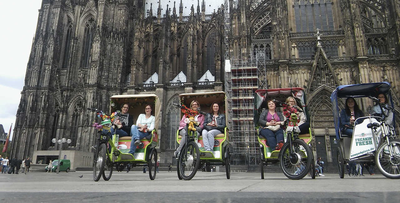 Rikscha selber fahren in Köln, 8 Std.