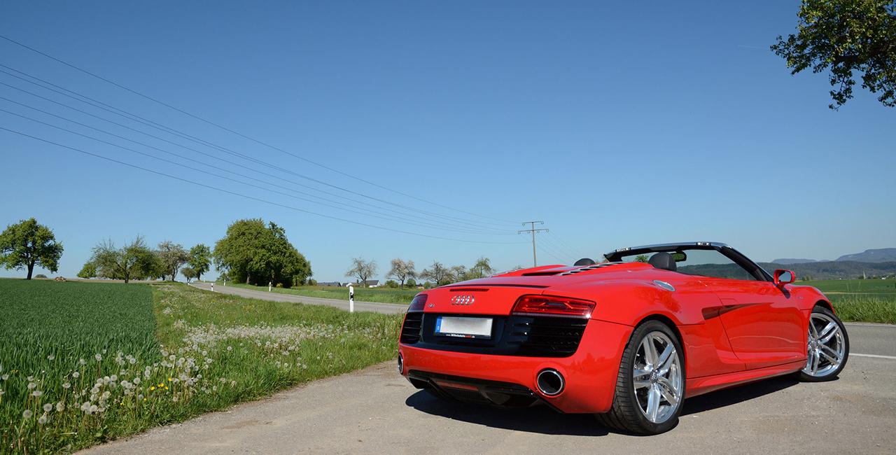 1 Tag Audi R8 Spyder mieten in Rottenburg
