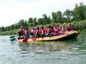Schlauchboot-Tour auf dem Altrhein in Istein - Erlebnis Geschenke