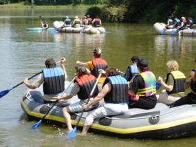 Schlauchboot-Tour auf der Inn in Bad Griesbach, Bayern