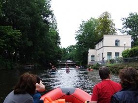 Schlauchboot-Tour auf der Mulde in Poldewitz