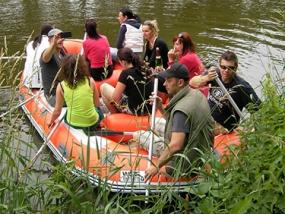 Schlauchboot-Tour auf der Saale in Leipzig