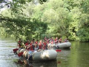 Schlauchboot-Tour auf der Spree in Neuhausen/Spree