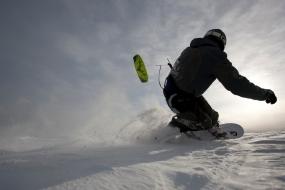 Snowkiten 2 Tageskurs in Westerheim, Raum Ulm in Bayern