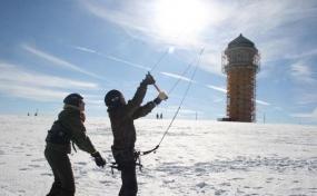 Snowkiten Privatkurs in Feldberg, Raum Freiburg
