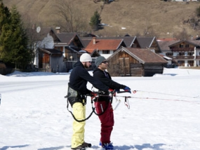 Snowkiten Theoriekurs in Wallgau, Bayern