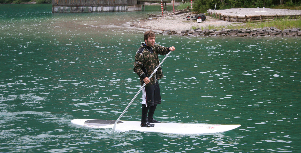 Stehpaddeln / Stand-Up-Paddling (SUP)