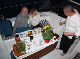 Sunset-Dinner (5-Gang) auf einer Yacht in Stralsund