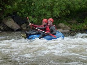 Twin Tubing auf der Ruhme in Katlenburg