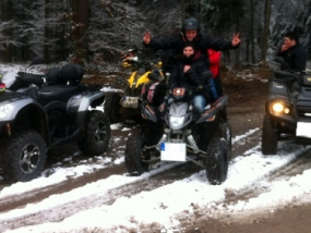 Winter Quad Tour Beifahrer Zeitlarn - Erlebnis Geschenke