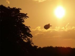 Zeppelin Rundflug in Bocholt, Raum Kleve in NRW