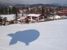Zeppelin Rundflug in Garmisch-Partenkirchen, Bayern